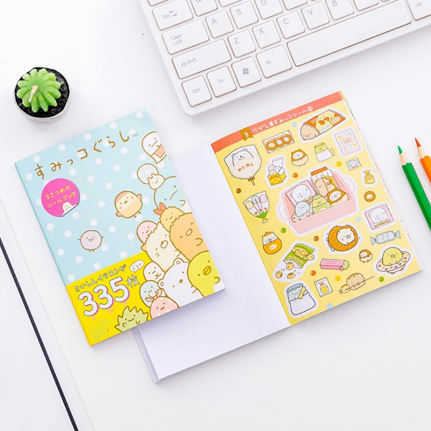 10*14cm pegatinas orgánicas de esquina de dibujos animados lindo DIY hojas para diario pegatina libro decoración álbum adhesivo de papelería decorativo