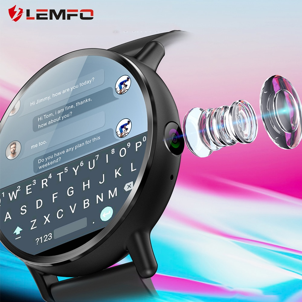 LEMFO LEM X أندرويد 7.1 4G 2.03 بوصة 900Mah 8MP كاميرا مقاوم للماء ساعة ذكية فاخرة الرياضة ساعة بـ GPS ساعة ذكية للرجال