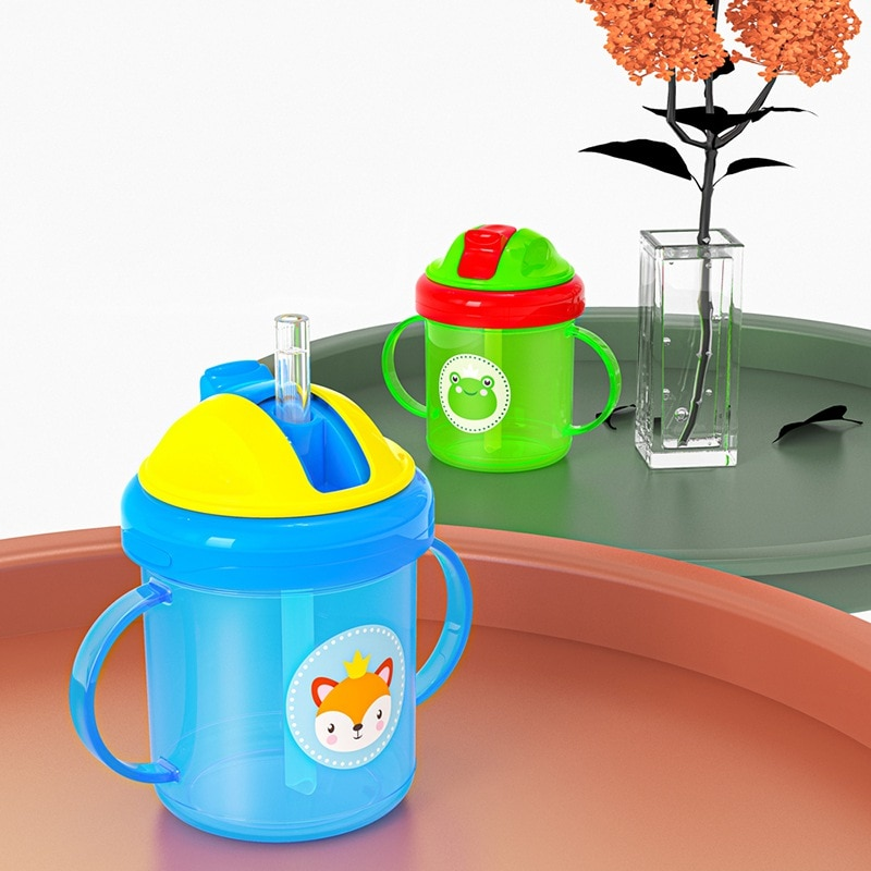 Baby Feeding Cups PP Drinkware Cute Cartoon Sippy Learning Cup For Toddlers Kids Drink Bottle With Handle Drinker cups stor 82306 mug drinkware water bottle kids feeding bottles for baby