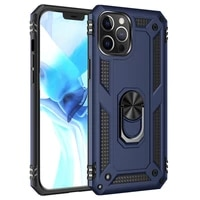 armor rugged pc phone case for motorola moto g10 g30 with shockproof magnetic metal ring stand anti fall protection back cover
