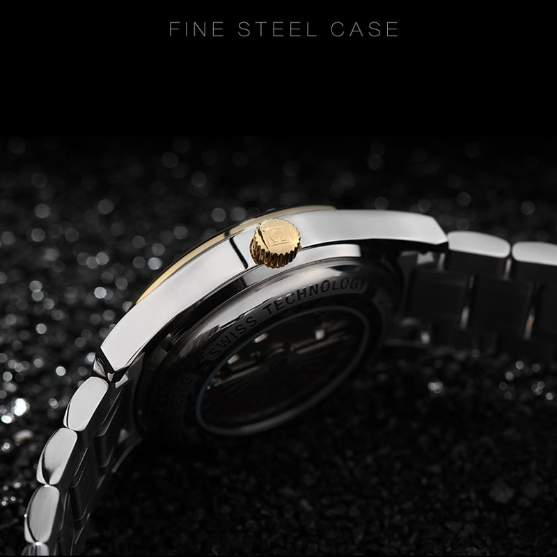 CARNIVAL Brand Luxury Military Watch Men Fashion Waterproof Gold Business Automatic Mechanical Watches For Man Reloj Hombre 2021 enlarge