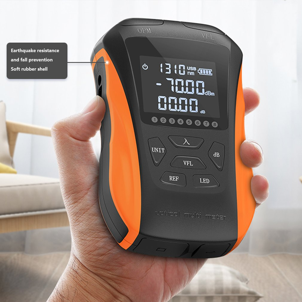 New 6 in 1 optical power meter High precision Rechargeable G8 Visual Fault Locator Network Cable Test Line finder SGS311/SGS112