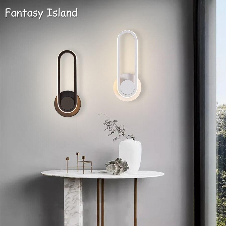 Czarny biały kreatywny oświetlenie naścienne LED lampa Barthroom kryty nowoczesna lampa sufitowa Led salon sypialnia światła korytarz łazienka