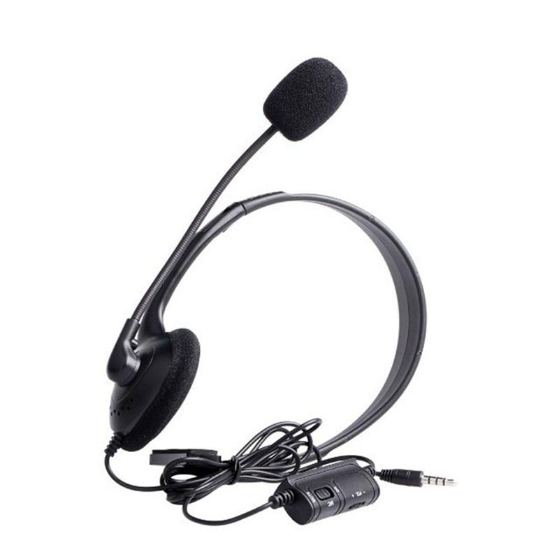 3,5mm Wired Headset mit Noise-Cancelling Mikrofon Universal Kopfhörer Stereo Kopfhörer für Sony PlayStation 4 PS4