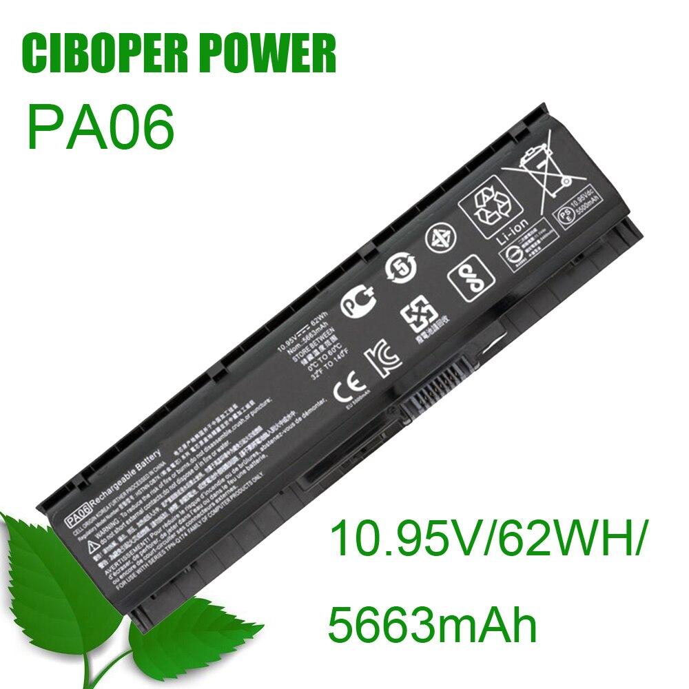 CP الأصلي بطارية PA06 10.95V/62WH/5663mAh ل 17-w000 17-w200 17-ab000 17t-ab200 HSTNN-DB7K 849571-221 849571-241 849911-850