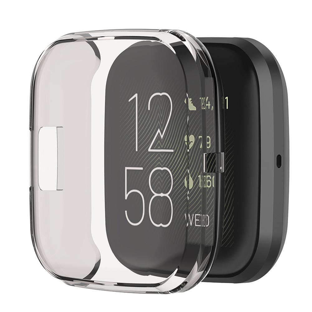 Rondaful Soft Tpu Case For Fitbit Versa 2 Versa Lite Waterproof Watch Shell Screen Protector For Fit