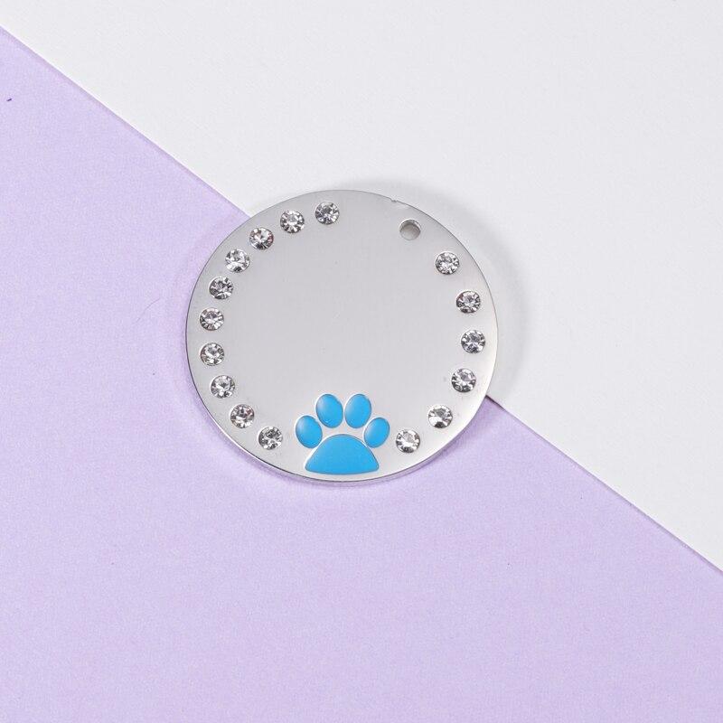 Fnixtar 20 قطعة 25 مللي متر مستديرة حجر الراين الكلب باو السحر مرآة البولندية الفولاذ المقاوم للصدأ الايبوكسي Charms DIY بها بنفسك صنع قلادة المفاتيح