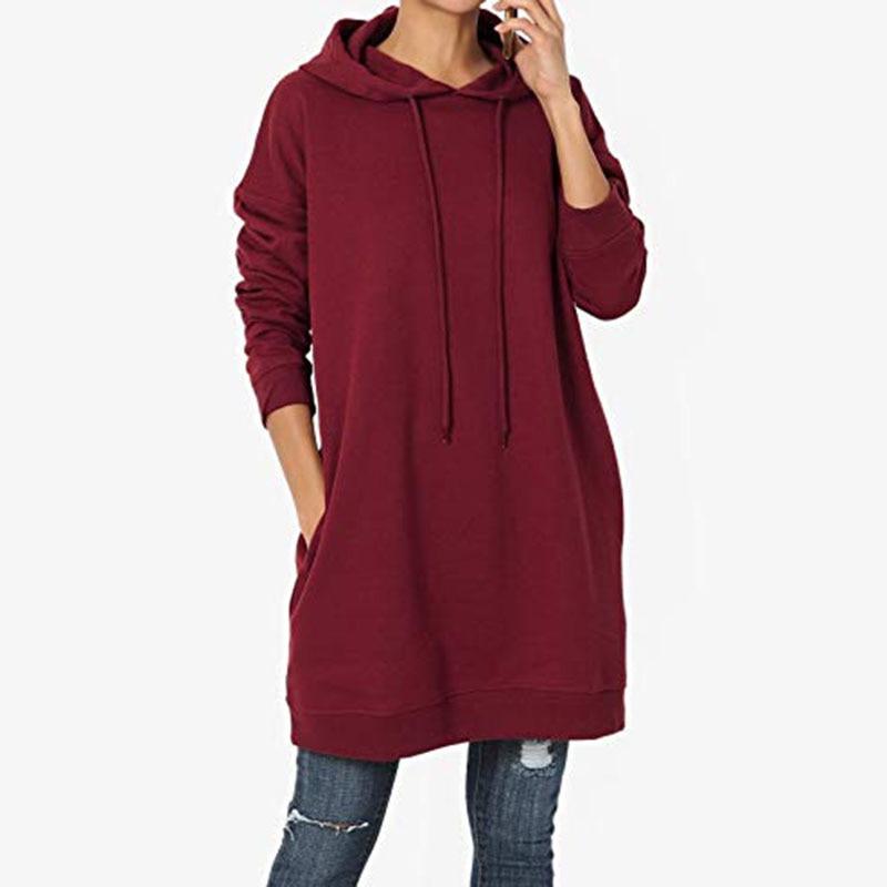 M Hoodies Simple Autumn Winter Long Sleeve Solid Color Casual Loose Hooded Sweatshirts Tops Y3