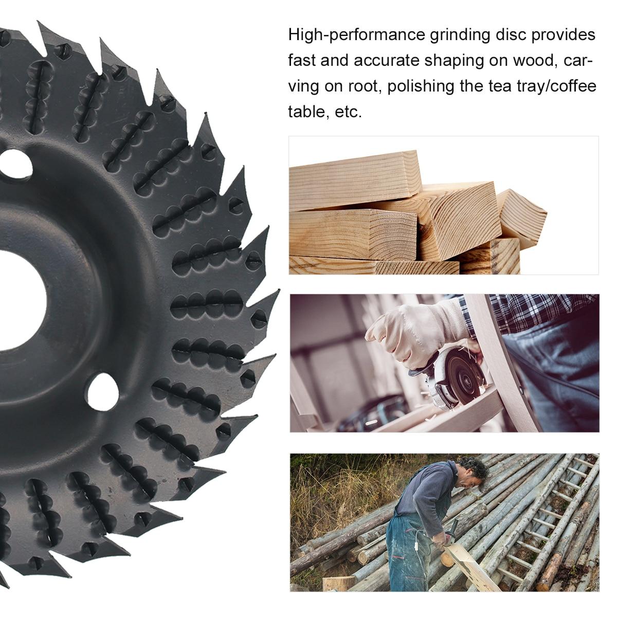 KKmoon 2pcs Angle Grinder Grinding Disc 28 Teeth Wood Grinding Wheel Abrasive Disc Woodworking Wood Shaping Disc Grinding Disc