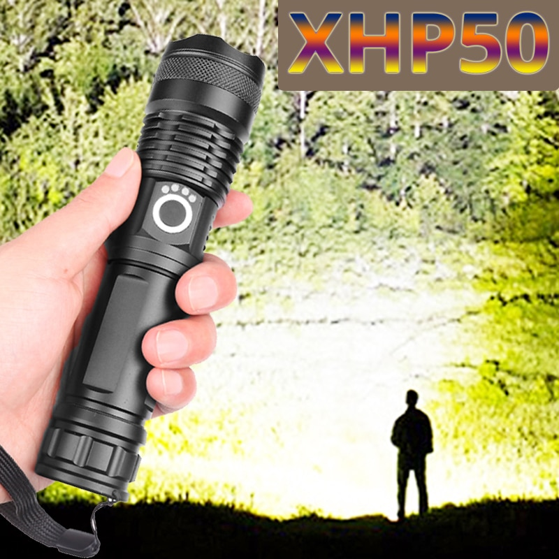 Drop Shipping xhp50.2 most powerful flashlight 5 Modes usb Zoom led torch xhp50 18650 or 26650 batte