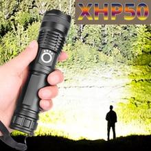 Livraison directe xhp50.2 la plus puissante lampe de poche 5 Modes usb Zoom led torche xhp50 18650 ou 26650 batterie meilleur Camping, en plein air