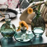 Mini Vase creatif classique  3 pieces  verre Transparent de qualite superieure  bouteilles de reactif de decoration pour la maison  vente en gros