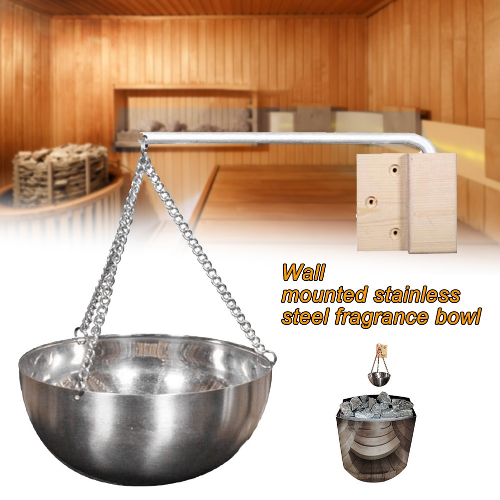 Hanging Practical Bowl Accessories Sturdy With Chain Diffuser Holder Aromatherapy Oil Cup Sauna Spa