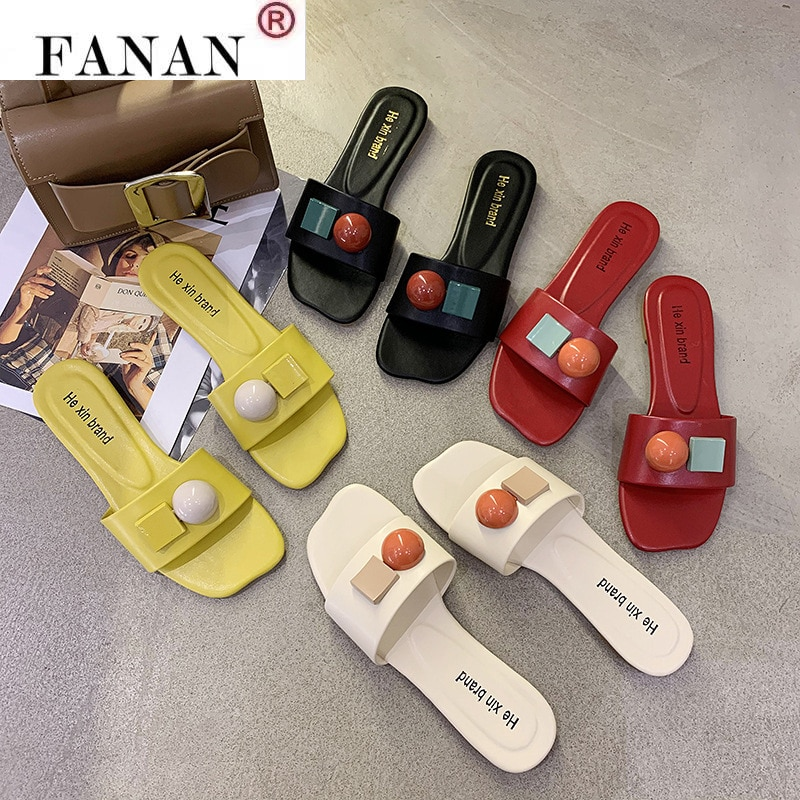 2021 women summer slipper fashion beach female flip slip casual flat slides ladies sandals shoes outdoor zapatilla mujer 2021 New Candy Sandals Slippers Women Summer Slides Home Casual Sandals Summer Beach Slides Flip Flops Outdoor Flat Slipper