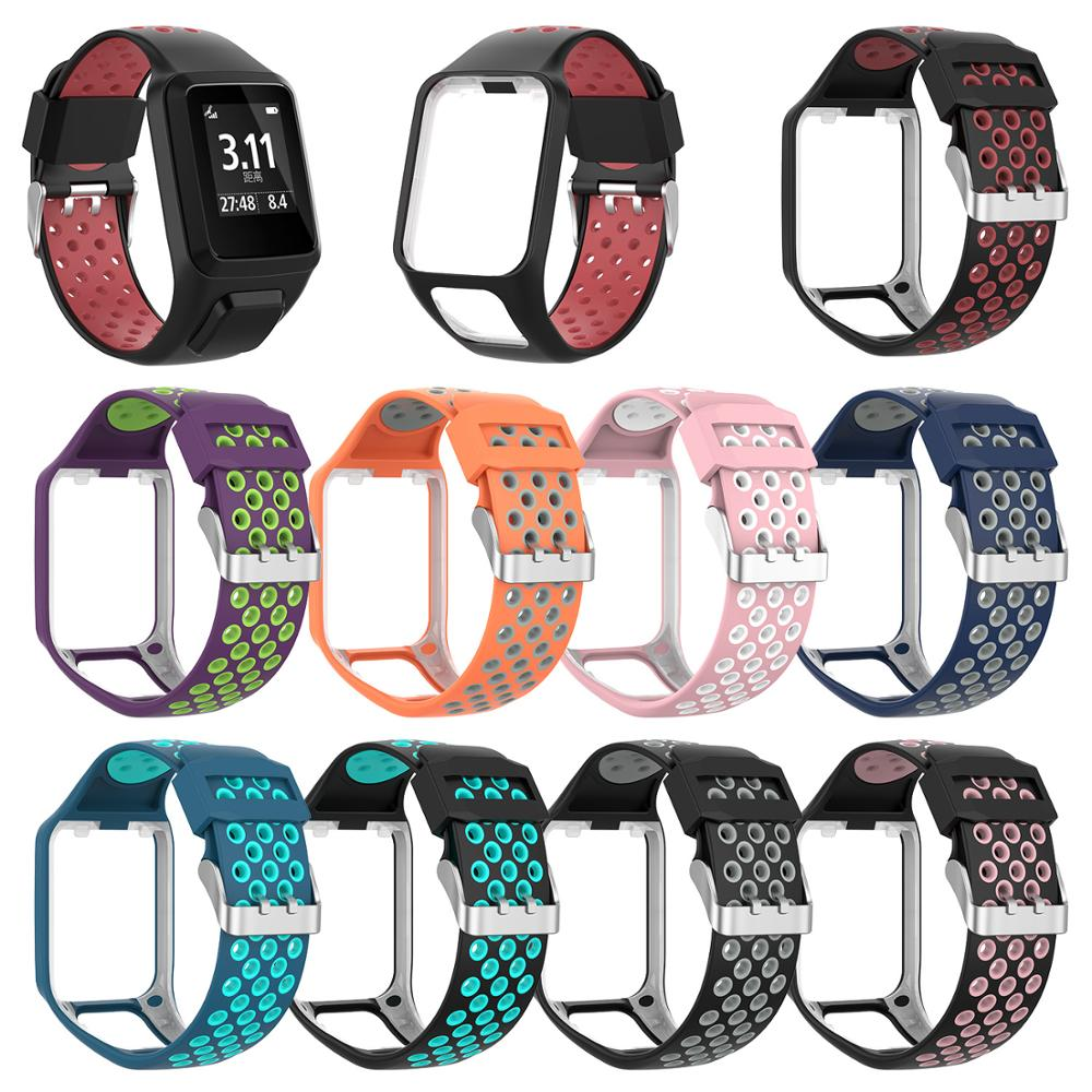 Wrist Band Strap for TomTom 2 3 Runner Spark Music Replacement Bracelet Soft Watchband Silicone Belt Watch Bracelet Accessory on AliWatcher