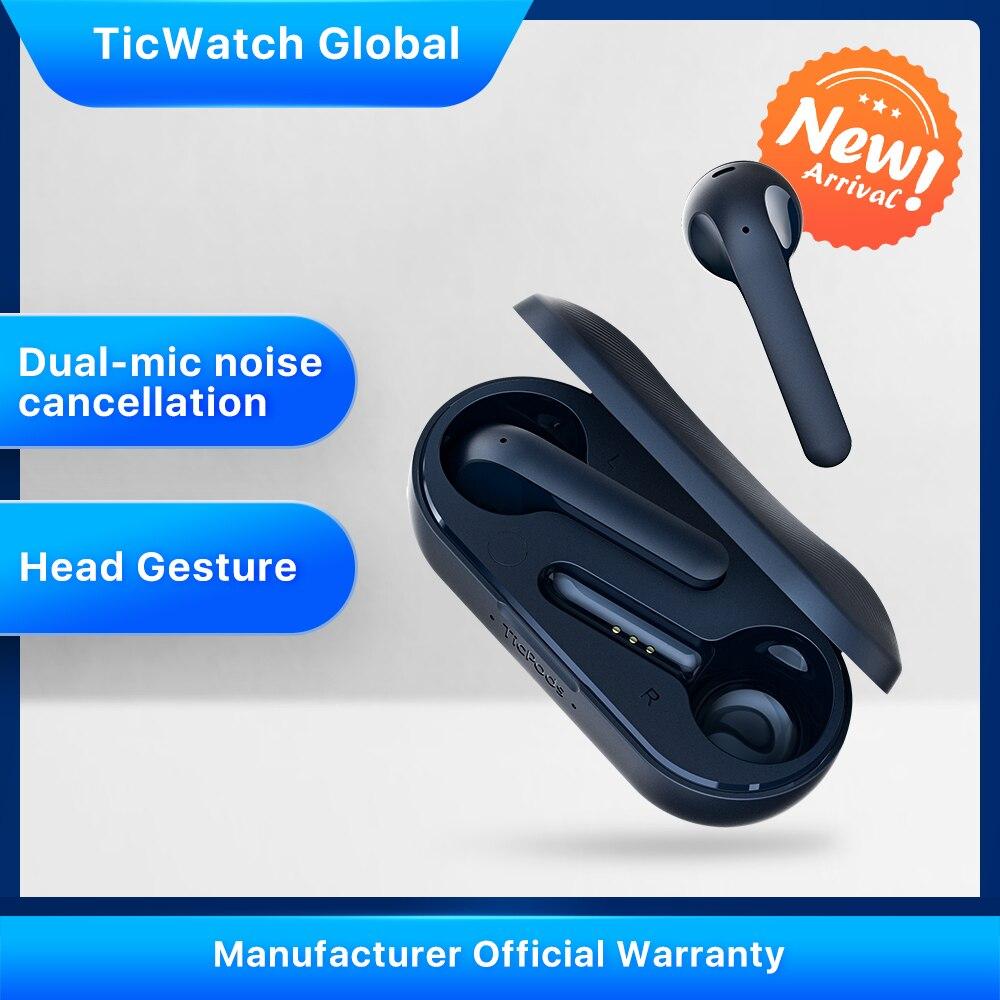 TicPods 2 Pro Bluetooth inalámbrico verdadero auriculares en el oído Detección de calidad de sonido Superior táctil/voz/Control de gestos 4PX impermeable