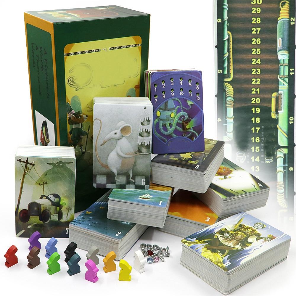 Contar história deck 1 + 2 + 3 + 4 + 5 + 6 + 7 + 8 + 9 jogos de cartas, total de 756 cartas de jogo, brinquedos de coelho de madeira para o divertimento da festa da família do presente das crianças
