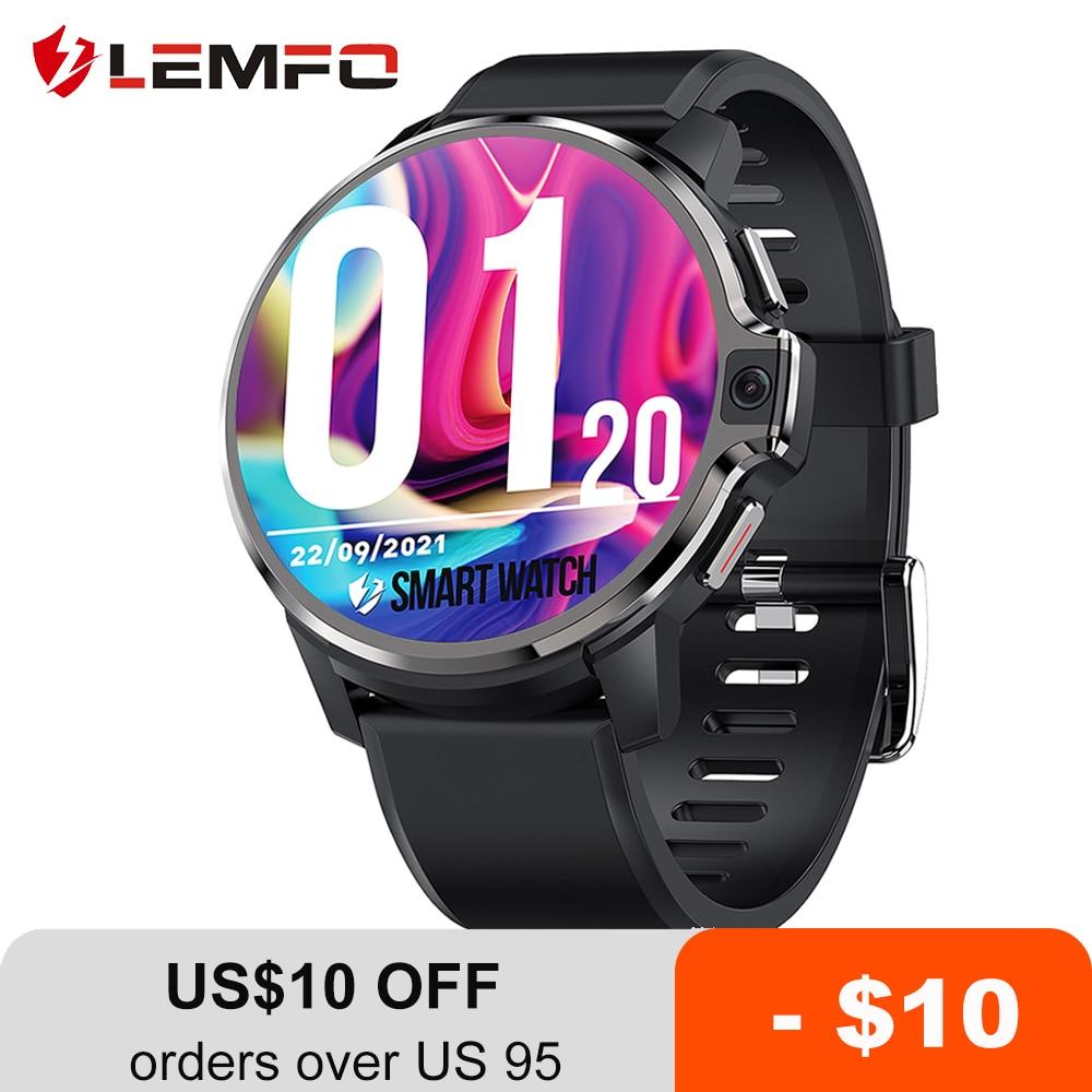 LEMFO LEMP Smart Watch 4G Android 9.1 Dual System 4G 128GB LTE 4G GPS 1050 mAh Man Smartwatch 2021 Dual Camera for Men
