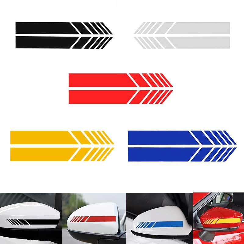 Rearview Mirror Reflective Car Sticker Motorcycle Racing Side Stripe DIY Decal Strip Exterior Accessories For Benz BMW Toyota VW
