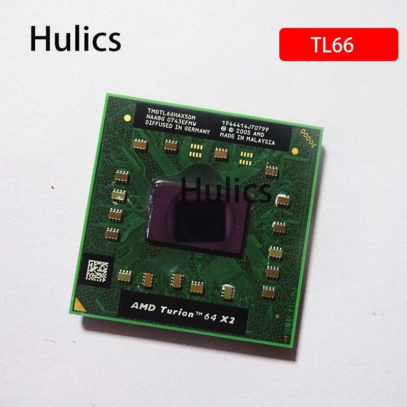 Hulics Original, TL-66 de tecnología móvil AMD Turion 64 X2, procesador de CPU de doble rosca TL 66 TL66 2,3 GHz, TMDTL66HAX5DC