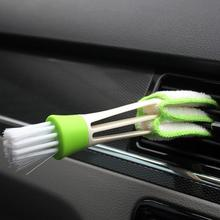 Fournitures de voiture Double climatisation sortie dair brosse de nettoyage tableau de bord intérieur nettoyage doux cheveux ange brosse