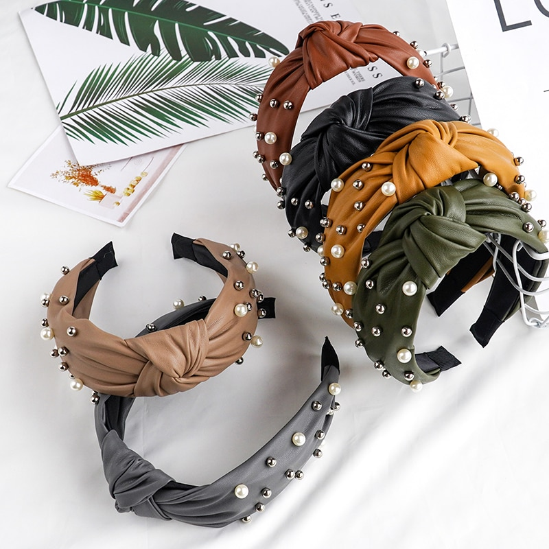 Chen Yan cwomens solid hairband moda diadema de encaje chica encantadora diadema FG2010