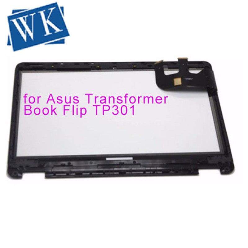 Reemplazo Original del digitalizador de pantalla táctil para el libro de transformador Asus TP301 TP301U TP301UJ TP301UA TP301UA-C4018T con bisel