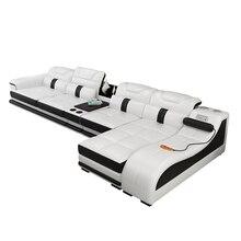 거실 소파 세트 диван мебель кровать muebles de sala L 모양 마사지 진짜 가죽 소파 카마 퍼프 asiento sala 이불