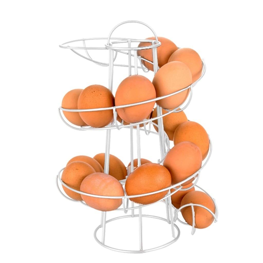Яйцо скелтер Делюкс спиралевидный диспенсер корзина для хранения пространства до 24 дисплей Ресторан корзина Железный арт Держатели
