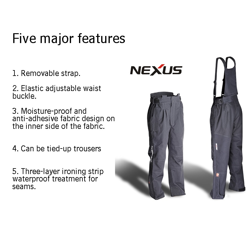 Men's Fishing Clothes Japanese Shima-brand Moisture-proof Waterproof Breathable Removable Fishing Pants Everything For Fishing enlarge
