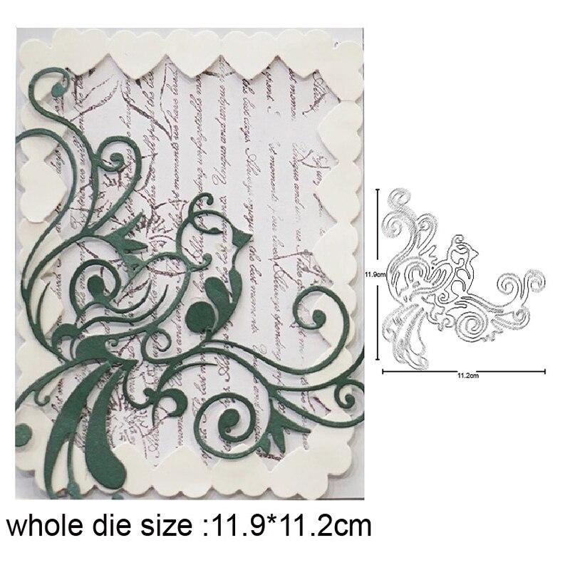 craft dies flower Leaf Corner Cutting Dies Stencils For Greeting Cards Making Scrapbooking Metal Nouveau Arrivage 2020