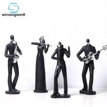 Strongwell американская черная абстрактная полоса персонаж скульптура Ретро ностальгическая статуя Смола ремесло украшение для дома подарок