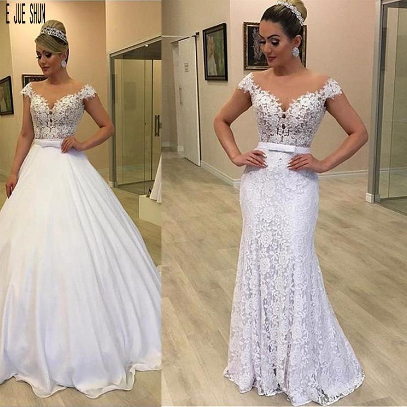 JIERUIZE-vestidos De Novia De encaje De color marfil, vestido De boda con...