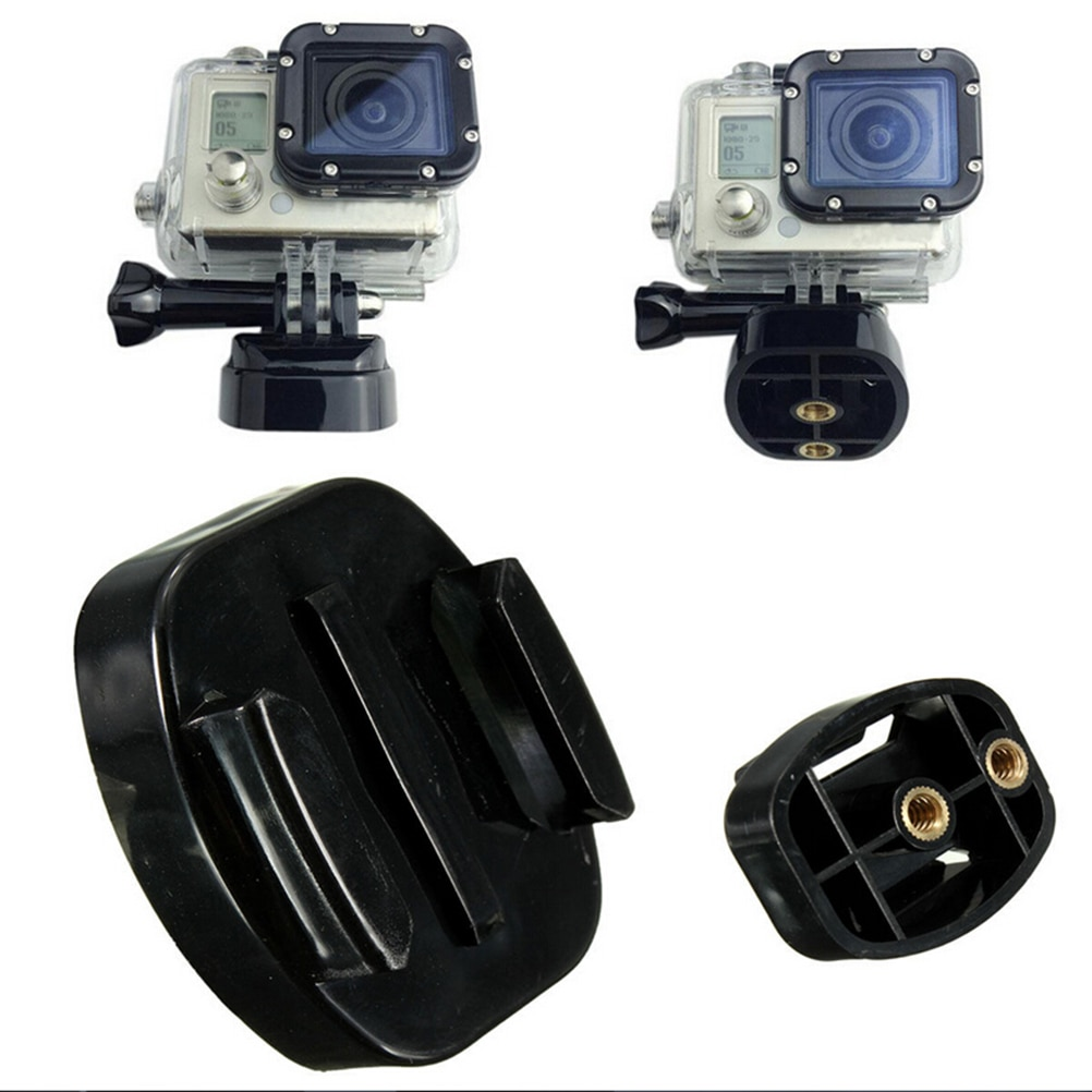 Quick Release Plate Tripod Bracket Base Mount For GoPro Hero 8 7 6 5 4 Black SJ4000 For Xiaomi Yi 4K Camera With 1 4 Inch Nuts
