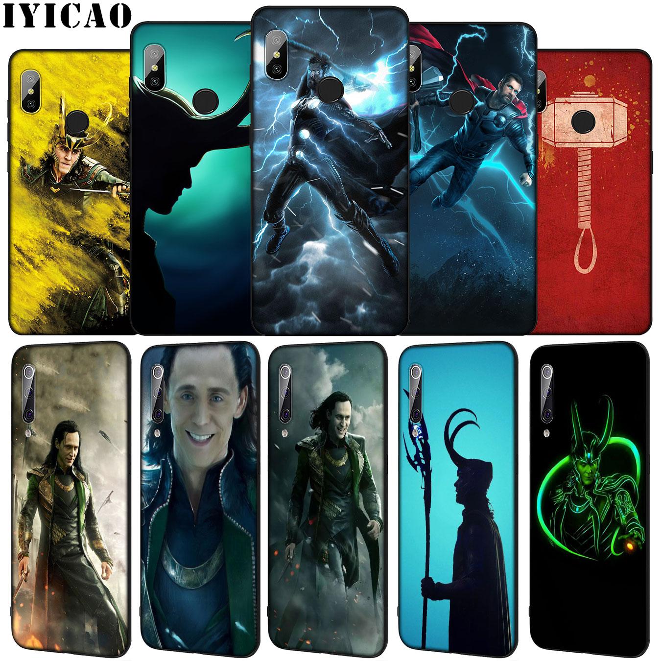 IYICAO Loki Thor Marvel Мягкий силиконовый чехол для телефона Xiaomi Mi 10 9 9T A3 Pro 8 SE A2 Lite A1 CC9 CC9E 6 pocophone f1 Mi10