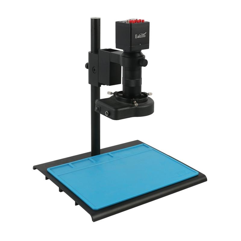 1080P VGA HDMI SONY IMX307 مختبر PCB الصناعي لحام فيديو مجهر كاميرا + 100X C جبل عدسة + ضوء لحام PCB