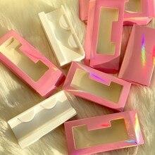 FDshine nouveaux cils roses emballage 20 pcs/lot 50 pcs/lot boîte de papier souple pour 25mm 27mm cils