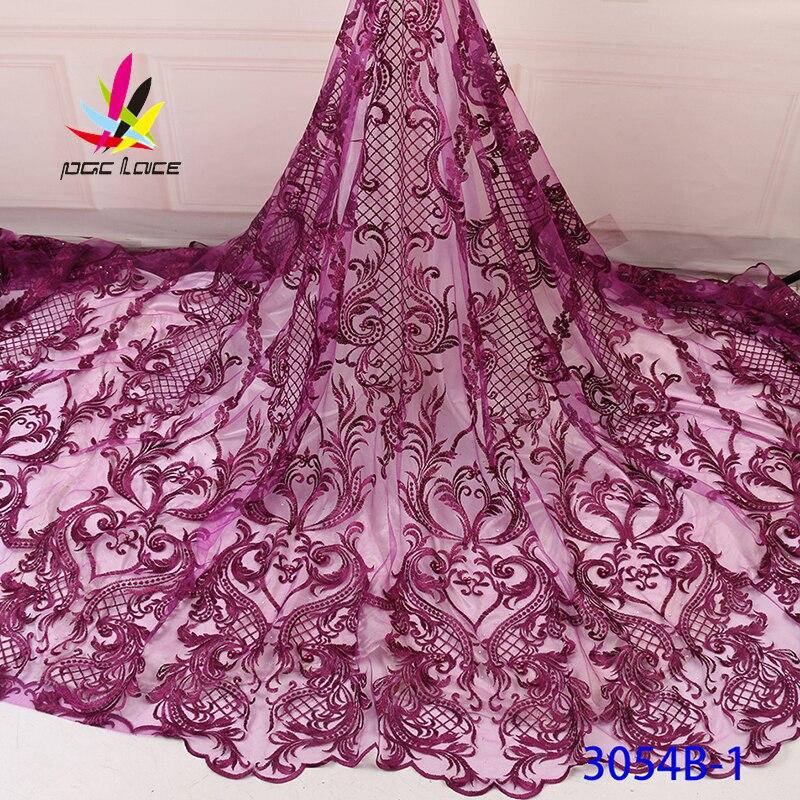 Bordado de tela de encaje con cuentas francesas patrón de flores Color marrón elegante francés africano nigeriano último diseño nuevo estilo