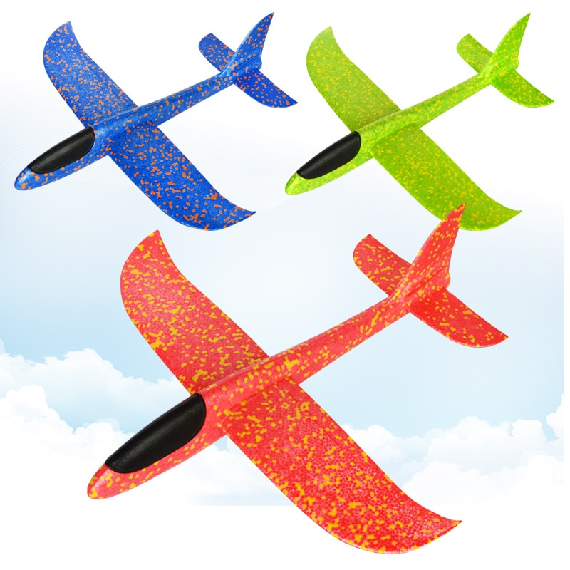 KaKBeir 5pcs Big Hand Launch Throwing Glider Aircraft Inertial Foam EPP Airplane Toy Children Plane Models Outdoor Fun Toy enlarge