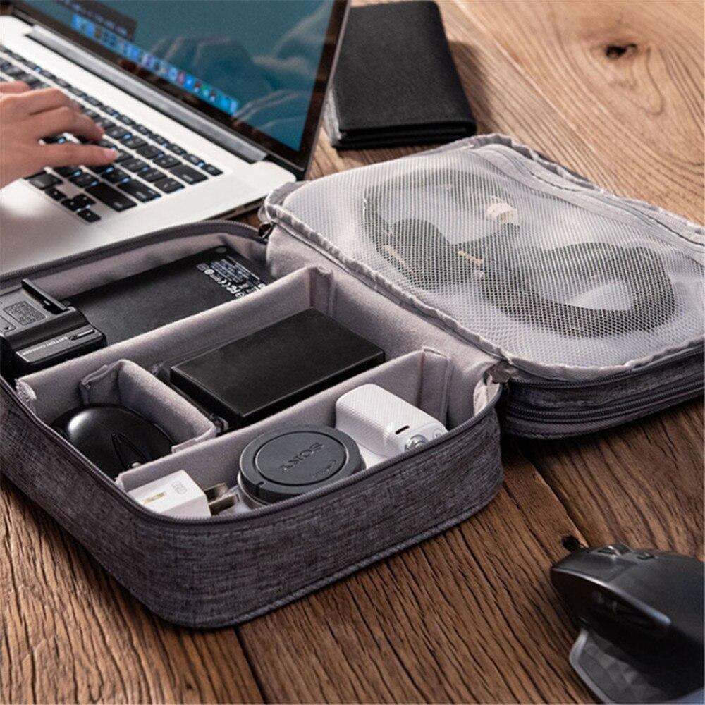 Usb-кабель для передачи данных, проводная ручка для наушников, внешний аккумулятор, органайзер для жесткого диска, портативный Дорожный комплект, чехол, Портативная сумка на молнии, аксессуары для косметики