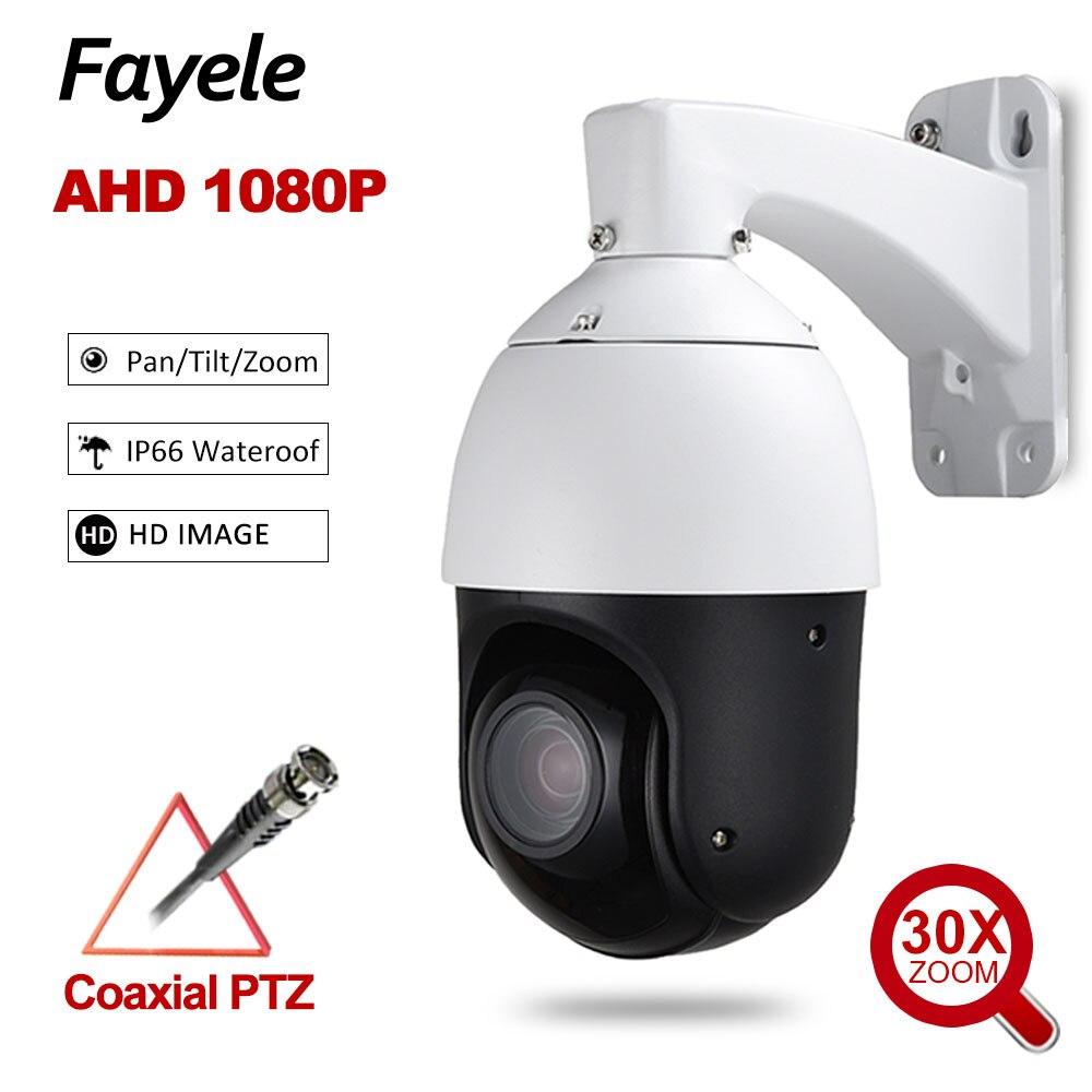 "CCTV Sicherheit Außen 4 ""MINI 2MP PTZ Kamera AHD 1080P 960P Speed Dome Kamera 30X ZOOM Auto fokus IR 100M Koaxial PTZ Steuerung"
