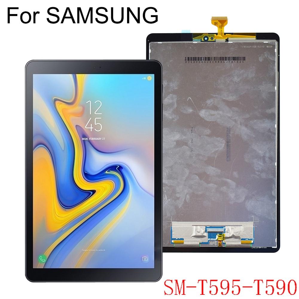 لسامسونج غالاكسي تبويب A2 T590 T595 SM-T595 شاشة LCD لوحة شاشة عرض شاشة تعمل باللمس استبدال كامل الجمعية