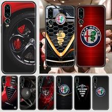 Alfa Logo Romeo Phone case For Huawei P Mate P10 P20 P30 P40 10 20 Smart Z Pro Lite 2019 black art f