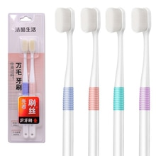 2 pièces brosse à dents à poils Super denses poils Ultra doux soins bucco-dentaires pour les enfants enceintes gencives sensibles brosse à dents outil de nettoyage bucco-dentaire