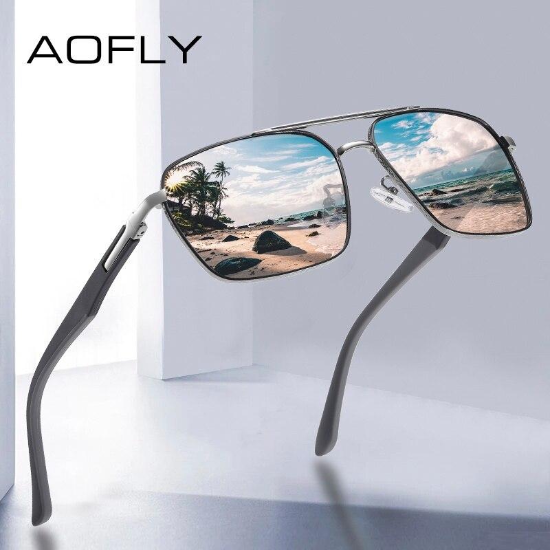 AOFLY Vintage Square Polarized Sunglasses Men Anti-glare Sun Glasses For Women Driving Glasses oculos de sol masculino UV400