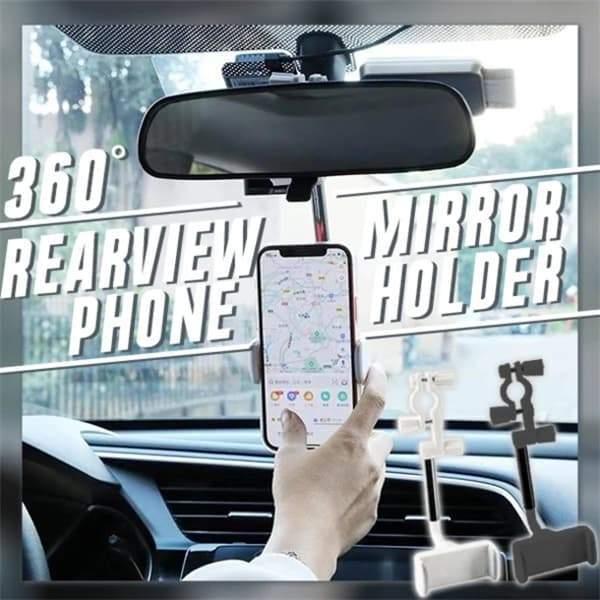 Гибкий автомобильный держатель для телефона, автомобильный держатель для зеркала заднего вида, держатель для телефона для GPS сиденья смарт...