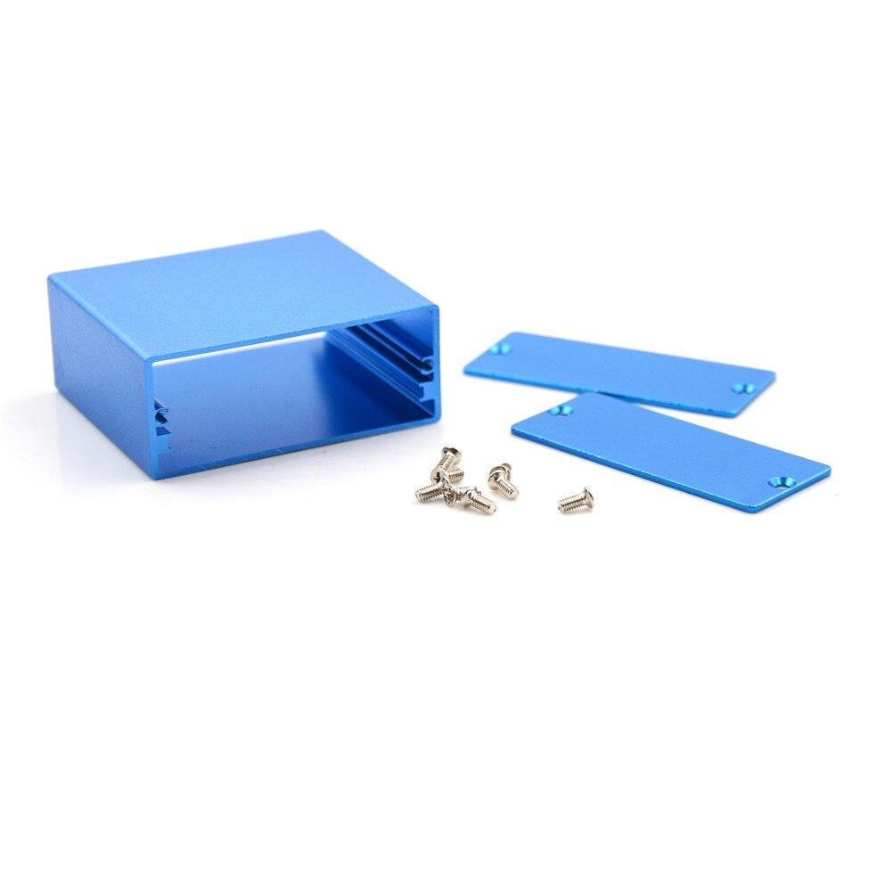 1PC Gabinete Projeto Eletrônico Caixa Azul Caixa de Alumínio PCB Atacado Instrumentos 50*58*24MM