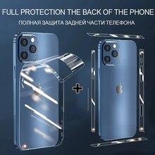 Сзади гидрогель пленка для iPhone 12 Pro Max Мини защитное стекло мобильный телефон сбоку пленок для iPhone 12pro 12 мини защита для экрана