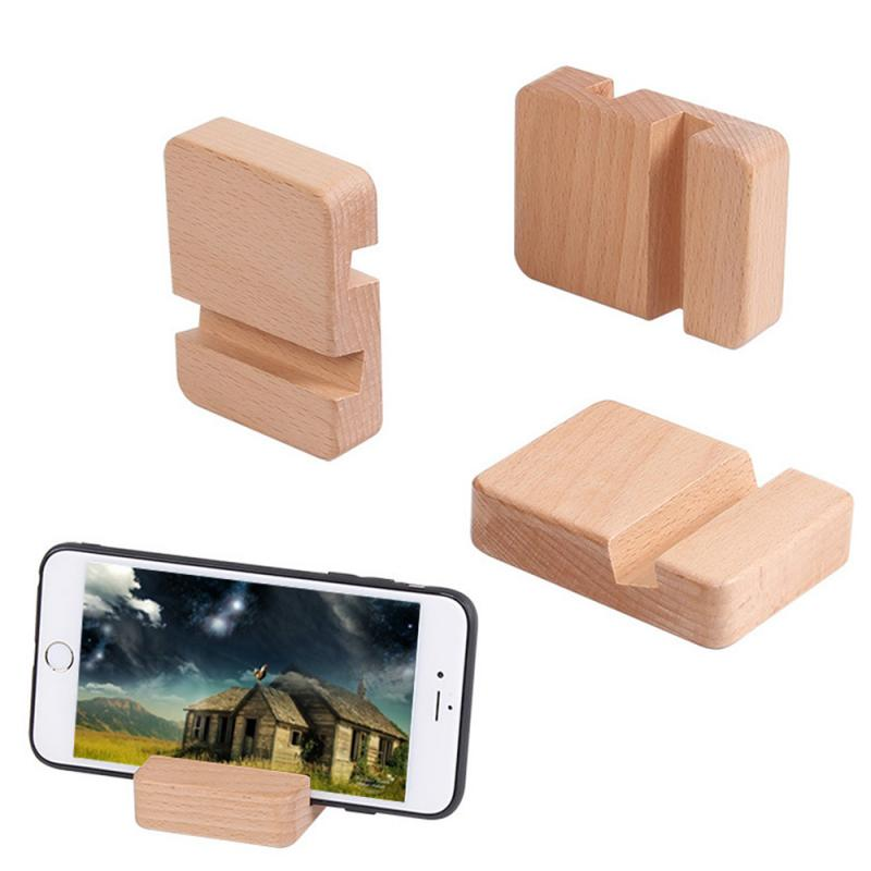Universal Cell Phone Double Slot Wood Bracket For Phone Desktop Stand For Ipad For Mobile Phone Hold