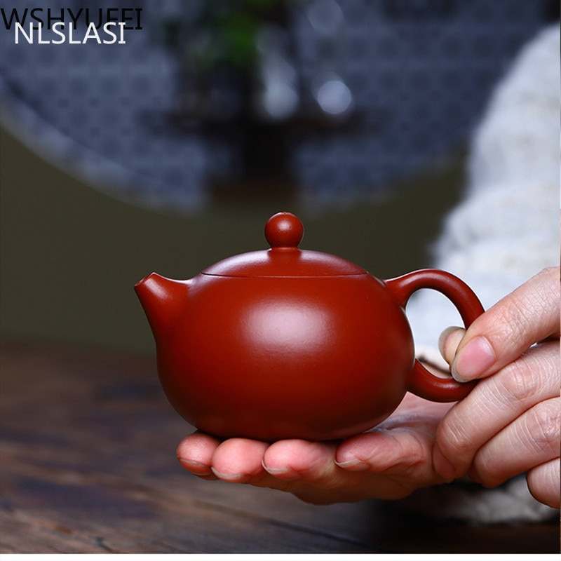 أصيلة ييشينغ الشاي وعاء الطين الأرجواني تصفية إكسيشي إبريق الشاي الجمال غلاية اليدوية Dahongpao الشاي مجموعة مخصصة 188 الكرة حفرة 150 مللي